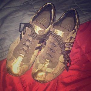 Coach Katelyn Sneakers sz 5 Gold
